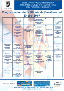 Programación de enero 2019 en la Oficinas Municipales