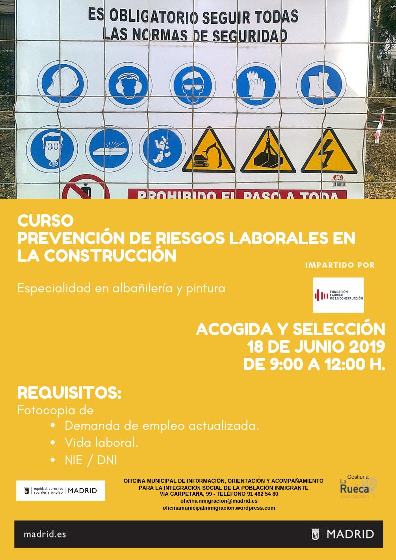 CURSO GRATUITO PRL EN LA CONSTRUCCIÓN
