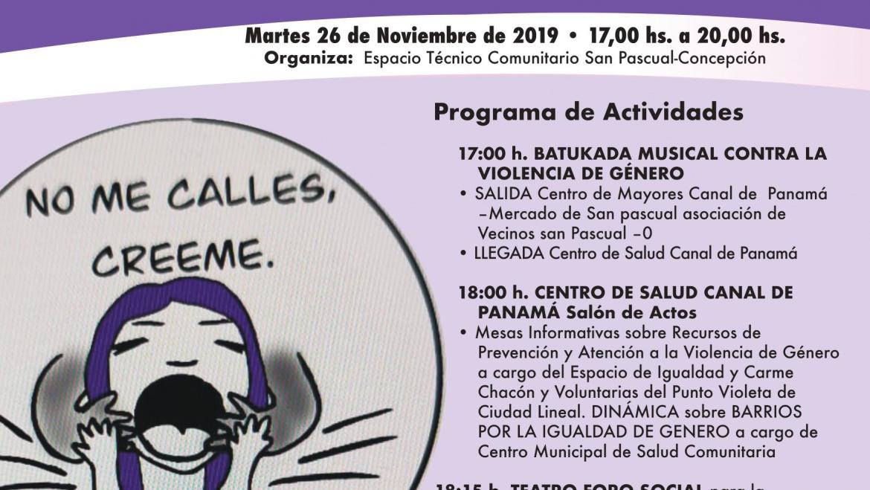 Jornada comunitaria con motivo del Día internacional para la eliminación de la violencia contra la mujer