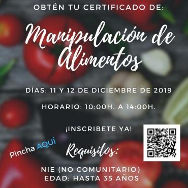 Certificado de manipulación de alimentos gratis