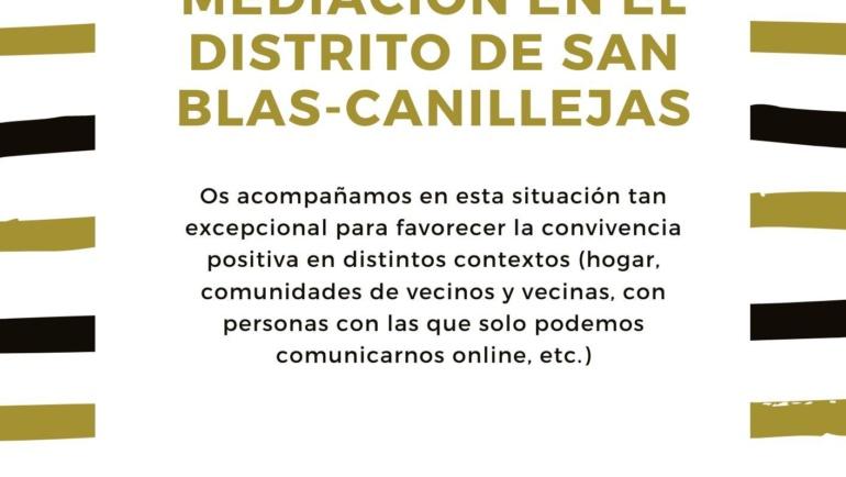 Infografías gestión de conflictos y Servicio de mediación online San Blas-Canillejas