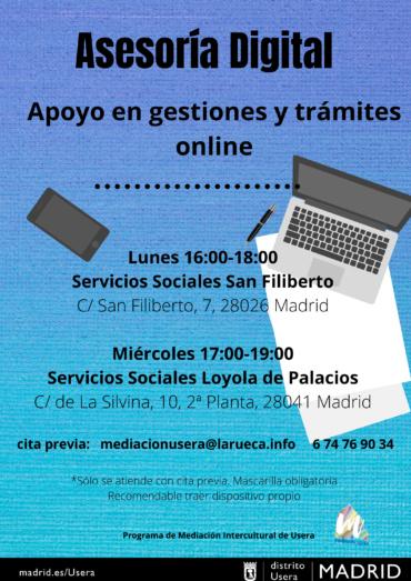 Asesoría digital en el distrito de Usera