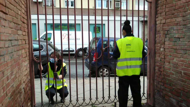Jóvenes se forman trabajando en la UDC de Arganzuela