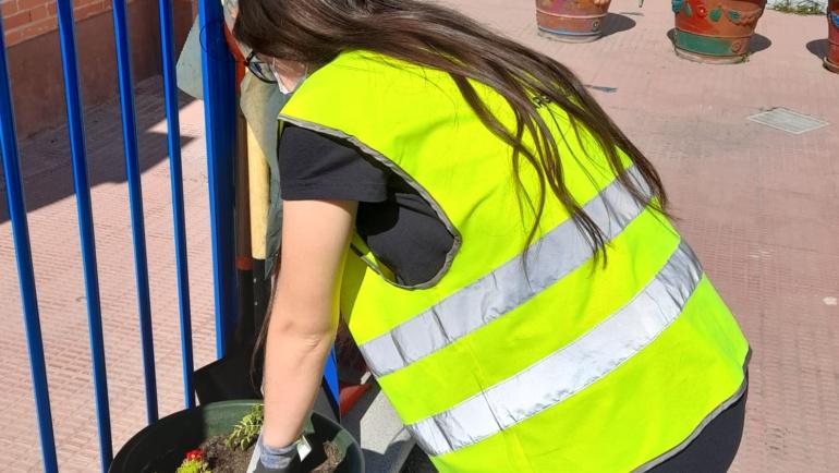 UDC Arganzuela aporta su granito de arena en el Día del Árbol